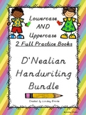 D'Nealian Handwriting BUNDLE (Lowercase AND Uppercase - Tw