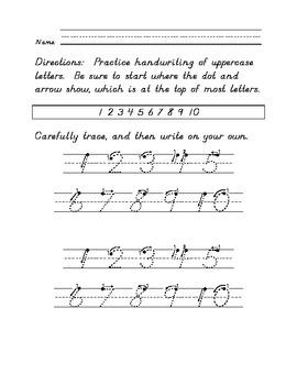 D'Nealian Handwriting Help