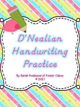 D'Nealian Handwriting Practice