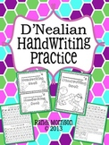 D'Nealian Handwriting Practice Book