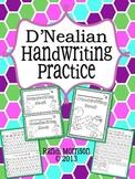D'Nealian Handwriting Practice Book