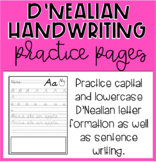 D'Nealian Handwriting Practice Pages