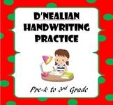 D'Nealian Handwriting Practice: Pre-K to 3rd Grade