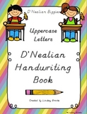 D'Nealian Handwriting Uppercase Letters Practice Book
