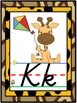 D'Nealian Jungle Safari Alphabet Line Posters A-Z