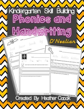 D'Nealian Kindergarten Phonics and Handwriting Practice Packet