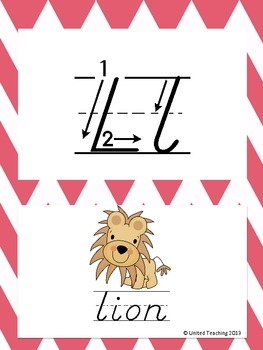 D'Nealian Letter Formation Alphabet Cards