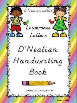 D'Nealian Handwriting Lowercase Letters Practice Book