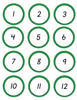D'Nealian Numbers to 100 Navy Lime Dots