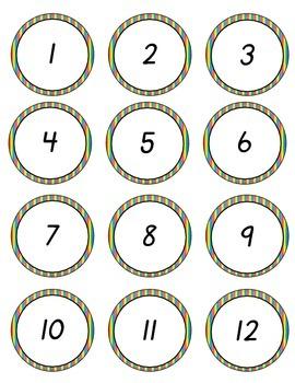 D'Nealian Numbers to 100 Rainbow