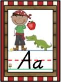 D'Nealian Pirate Alphabet Line Posters A-Z