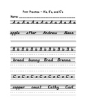 D'Nealian Print Handwriting Practice Packet - Full Alphabet