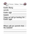 D'Nealian Print Handwriting Practice Packet - Holidays