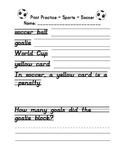 D'Nealian Print Handwriting Practice Packet - Sports