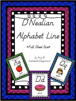 D'Nealian Style Alphabet Line