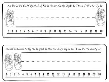 D'Nealian Style Blue Cat Desk Name Plates (Name Tags)