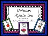 D'Nealian Style Print Alphabet Line