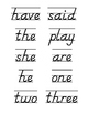 D'Nealian Word Wall Cards - Kindergarten