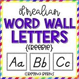 D'Nealian Word Wall Letters
