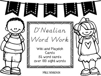 D'Nealian Word Work Activities and Handwriting Practice