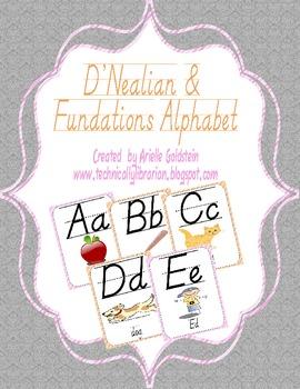 D'Nealian and Fundations Alphabet
