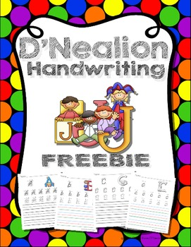 D'Nealion Handwriting Worksheets Uppercase and Lowercase FREEBIE