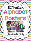 D'Nealian Bright Chevron Alphabet Posters