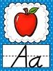 D'Nealian Polka Dot Alphabet Posters