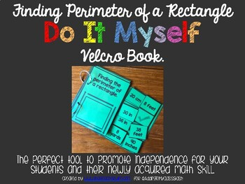 DO IT MYSELF Finding Perimeter of a Rectangle Velcro Book