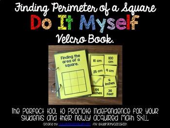 DO IT MYSELF Finding Perimeter of a Square Velcro Flip Book