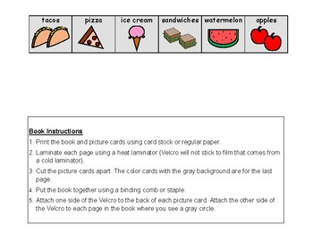 DO YOU LIKE IT? Adapted FOOD BOOK, AUTISM, Speech Therapy, Grammar, AAC