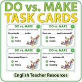 DO vs. MAKE - English Task Cards