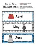 DOCTOR WHO Inspired Calendar Set