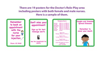 DOCTOR / MEDICAL CENTRE ROLE-PLAY