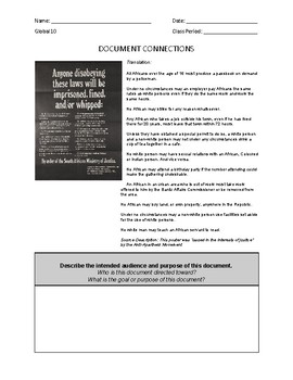 DOCUMENT CONNECTIONS - APARTHEID GROUP - PDF FORMAT (New Global Regents)