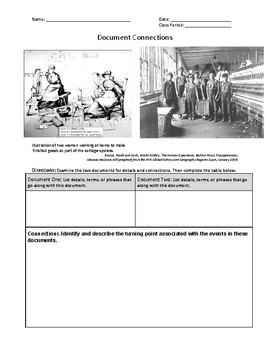 DOCUMENT CONNECTIONS - INDUSTRIAL REVOLUTION - PDF (New Global Regents)