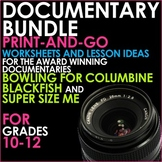 DOCUMENTARY BUNDLE - BLACKFISH, BOWLING FOR COLUMBINE and SUPER SIZE ME