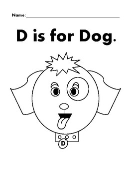 DOG Basic Shapes Coloring Page