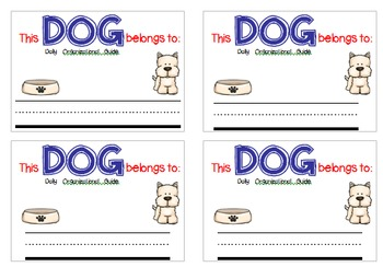 D.O.G. {Daily Organizational Guide} School-to-Home Communication Folder