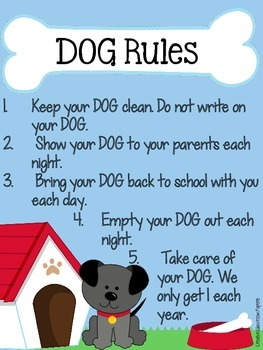 D.O.G. Folder {Daily Organizational Guide} Parent Communication Tool