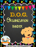 DOG Student Organization and Parent Communication Binder {personalize it}