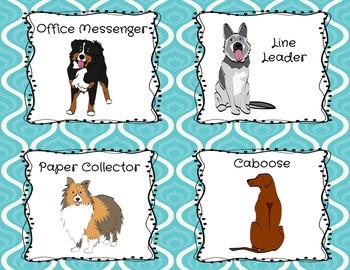 CLASSROOM JOBS- DOG THEMED {EDITABLE!}