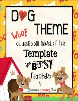 DOG Theme Newsletter Template - PowerPoint