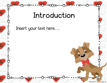 DOG Theme Parent Information Night Power Point Template