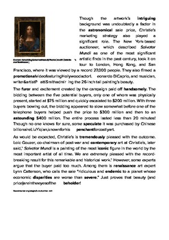 DOGOnews worksheets - $450 Million For Rediscovered Leonardo Da Vinci Painting