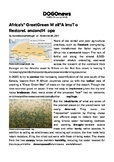 """DOGOnews worksheets - Africa's """"Great Green Wall"""" Aims To"""