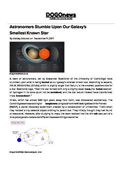 DOGOnews worksheets - Astronomers Stumble