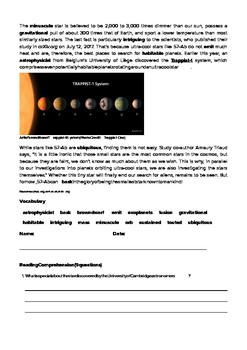 DOGOnews worksheets - Astronomers Stumble