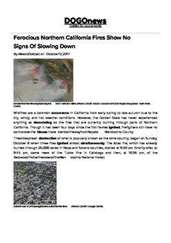 DOGOnews worksheets - Ferocious N.California Fires Show No Signs Of Slowing Down