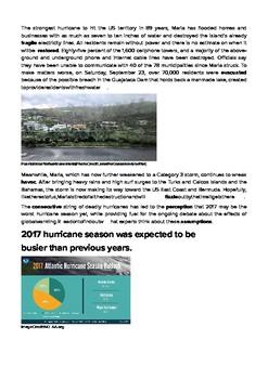 DOGOnews worksheets - Harvey, Irma, Jose, And Maria - '17 Worst Hurricane Season